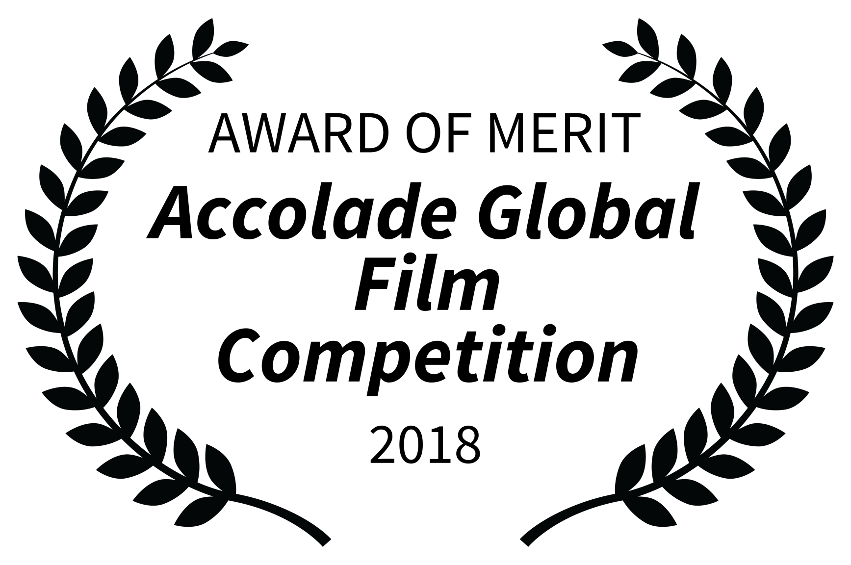 AWARD OF MERIT - Accolade Global Film Competition - 2018
