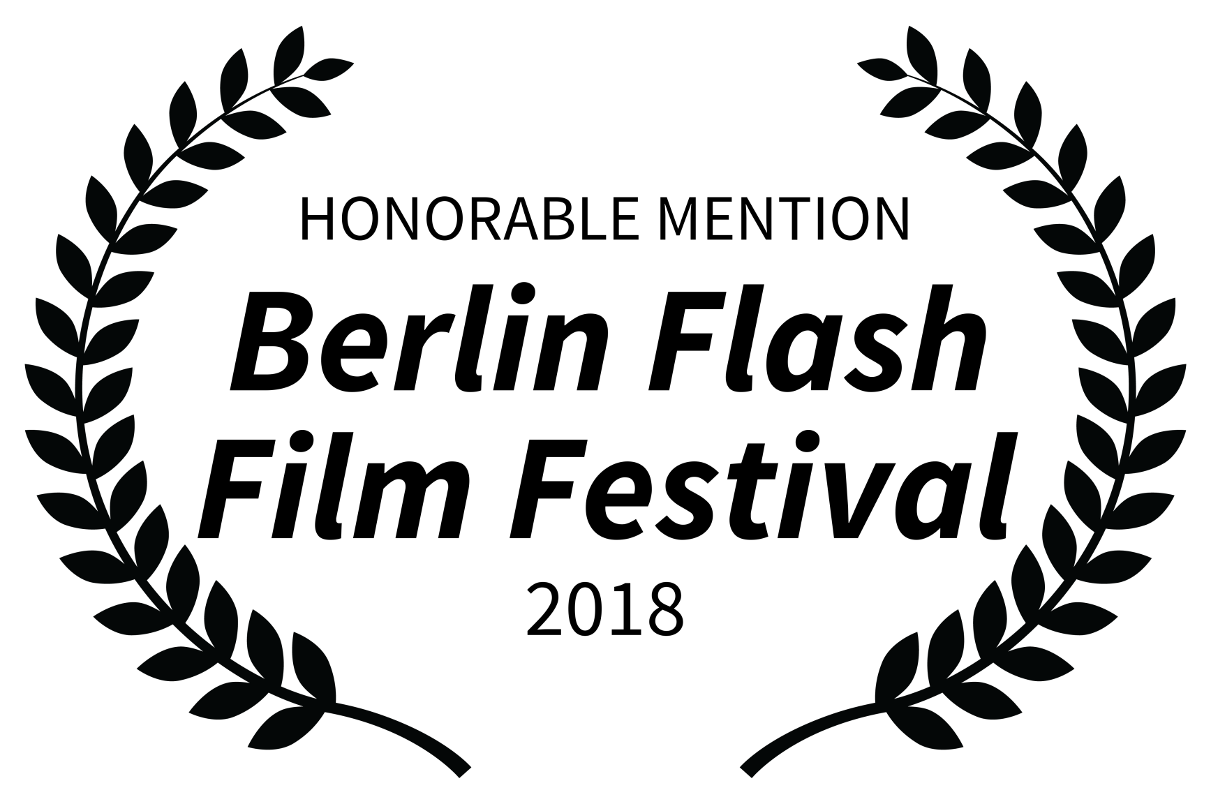 HONORABLE MENTION - Berlin Flash Film Festival - 2018