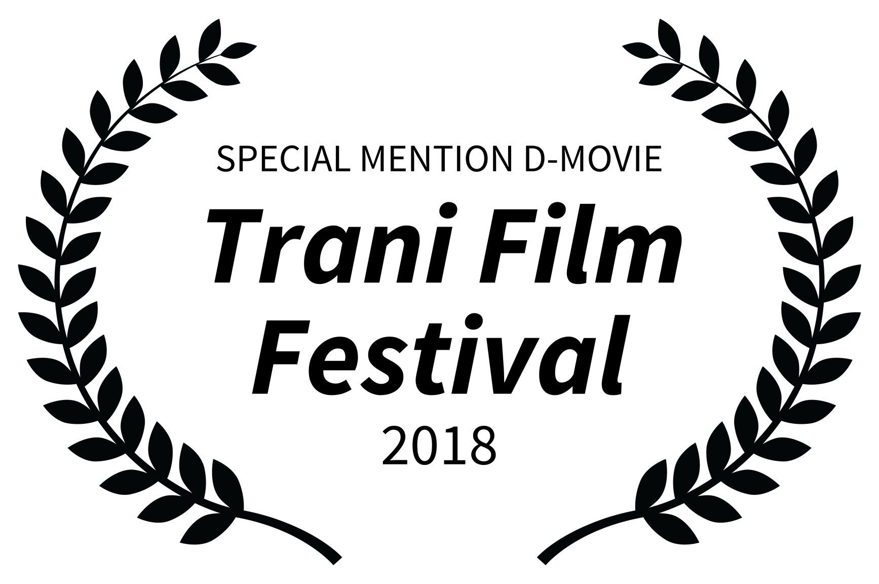 SPECIAL MENTION D-MOVIE - Trani Film Festival - 2018